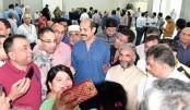 Dhaka North City Corporation Mayor Atiqul Islam attends BGMEA Bhaban to cast his ballots