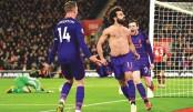 Salah's goal puts Liverpool on top