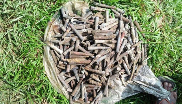 375 rifle bullets recovered from pond in Rajshahi