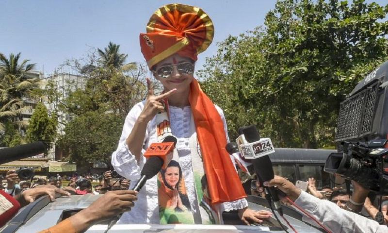 Lok Sabha polls: Urmila Matondkar rides bike as Mumbai candidates file nominations