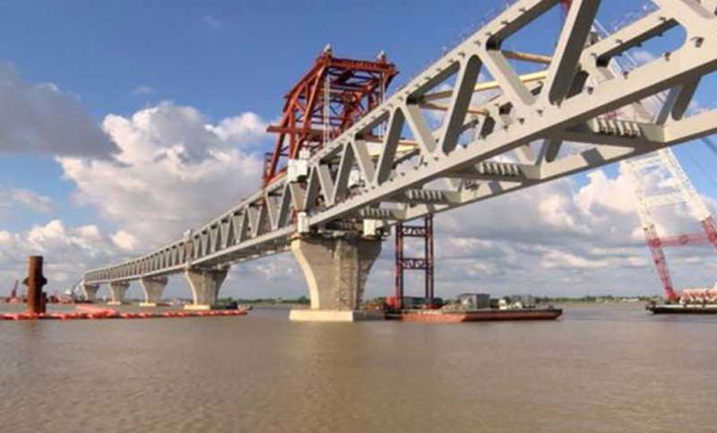 10th span of Padma Bridge installed