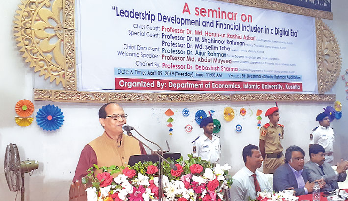 Former Bangladesh Bank Governor Prof Dr Atiur Rahman speaks