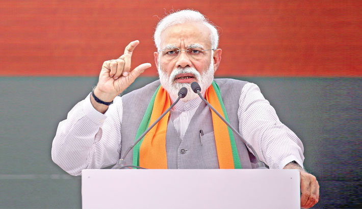 Congress responsible for creation of Pakistan: Modi