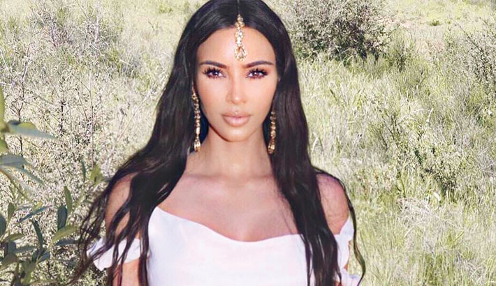 Kim criticised for 'cultural appropriation' after sporting Indian headpiece
