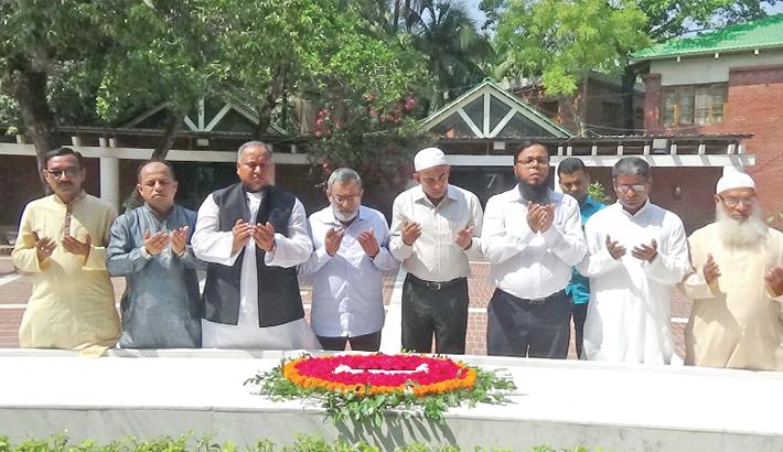 Placing a wreath at the grave of Father of the Nation of Bangabandhu Sheikh Mujibur Rahman