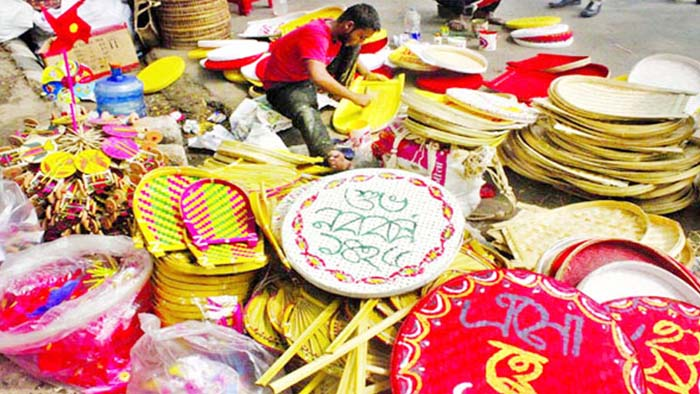 Preparations in progress to welcome Pahela Baishakh in Dhaka