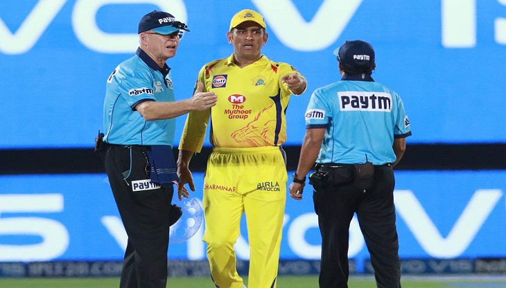 MS Dhoni fined after angry reaction to umpire's decision