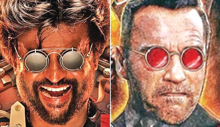 Is Rajinikanth's Darbar poster a rip-off of Schwarzenegger's Killing Gunther?