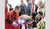 Bhutanese  PM arrives  in city