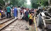 Three killed as train hits human hauler in Sirajganj