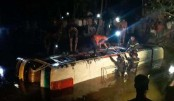 Bus plunges into ditch, many casualties feared