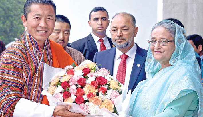 Prime Minister Sheikh Hasina and Bhutanese counterpart Dr Lotay Tshering