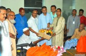 Prime Minister greets Freedom Fighters with gifts on Nabobarsho