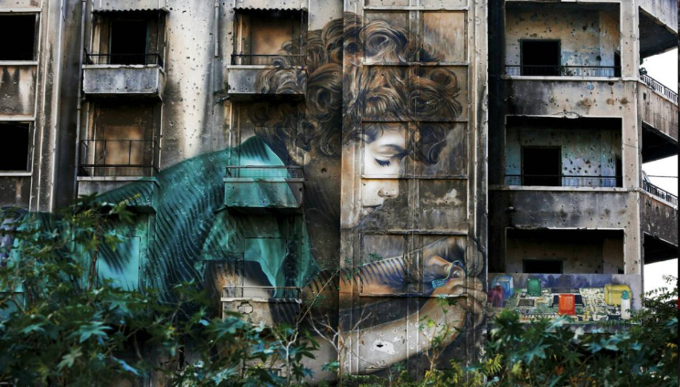 Decades on, war-scarred Beirut buildings remain