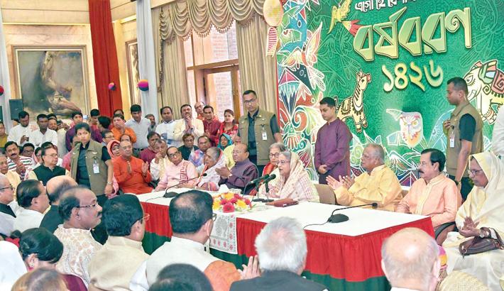 Prime Minister Sheikh Hasina speaks at a programme marking the Pahela Baishakh