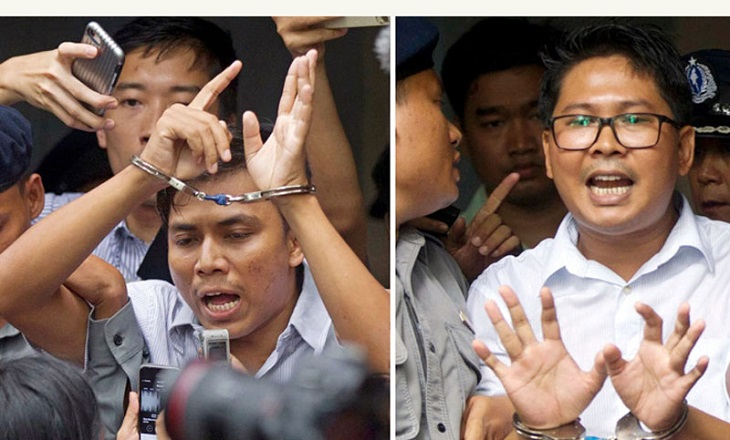 Imprisoned Myanmar journalists awarded Pulitzer prize