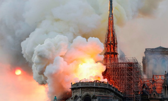 Notre Dame Cathedral devastated by ferocious blaze