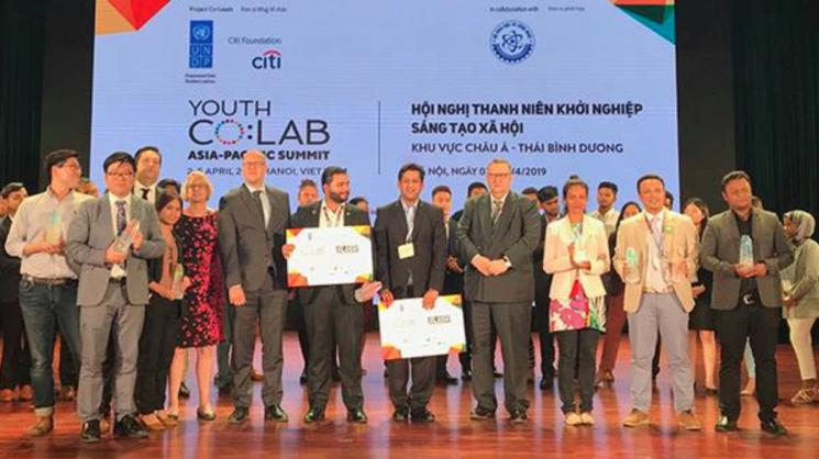 Bangladeshi startup awarded at Youth Co:Lab regional round