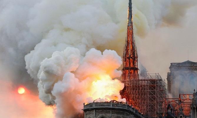 Global sorrow as fire ravages Notre Dame in Paris