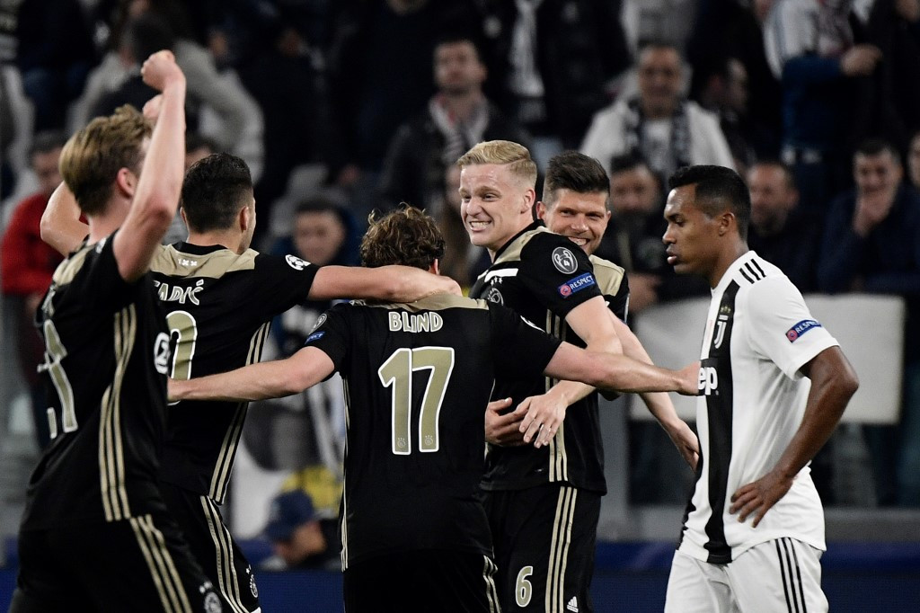 Ajax stun Ronaldo's Juventus to reach Champions League semis