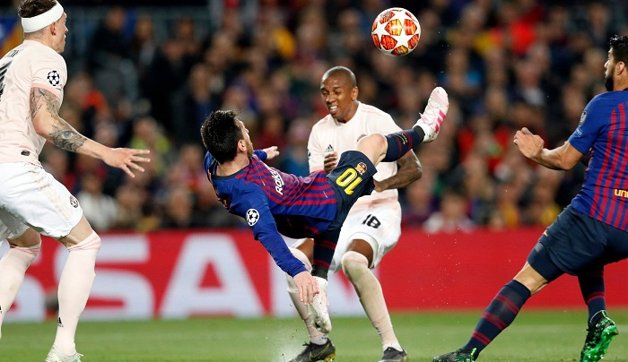 Messi magic thrashes Man United 3-0 at Camp Nou