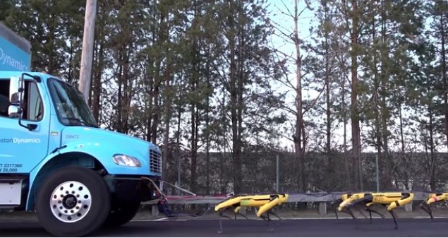 Robotic dogs are now strong enough to haul trucks (Video)