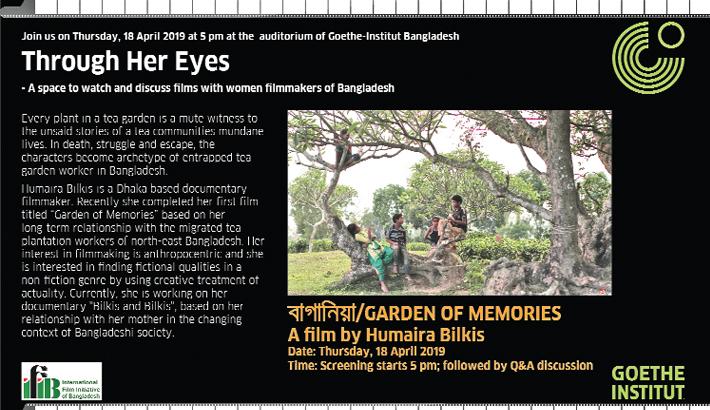 Garden of Memories to be screened  at Goethe-Institut today