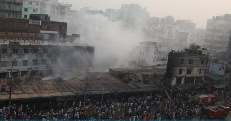 Malibagh kitchen market fire doused