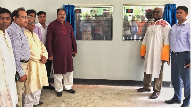 USAID-funded cyclone shelter inaugurated in Patuakhali