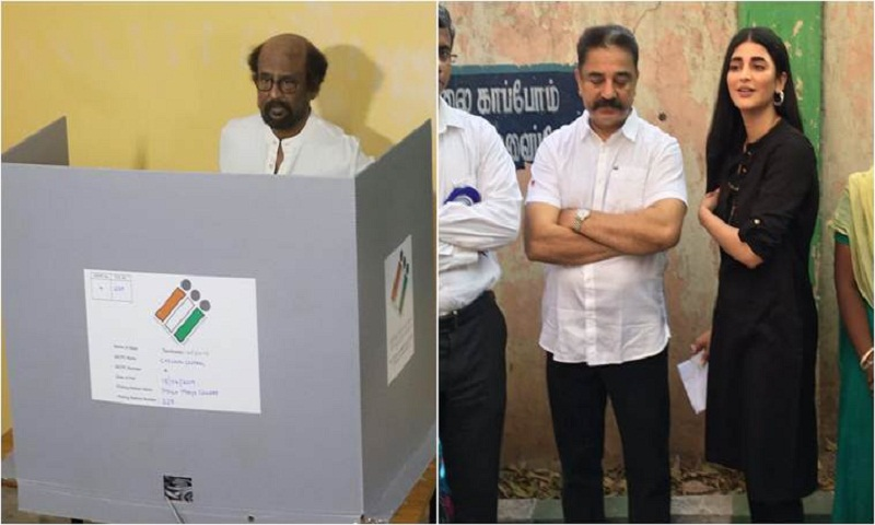 Lok Sabha Elections 2019: Kamal Haasan, Rajinikanth and Ajith cast their vote