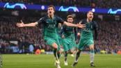 Spurs stun Man City on away goals in modern classic