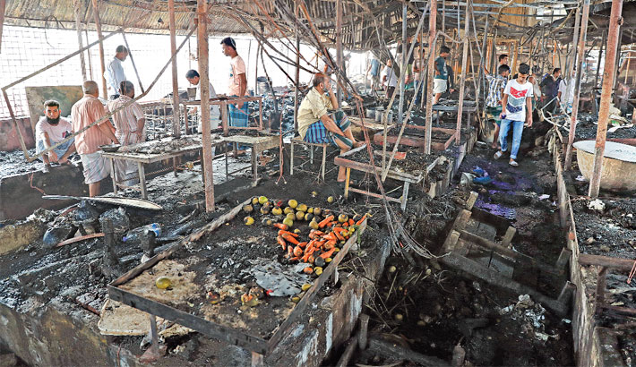 260 shops of Malibagh kitchen market gutted