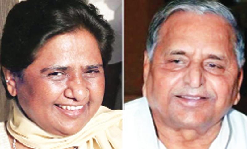 Mulayam, Mayawati share stage after decades