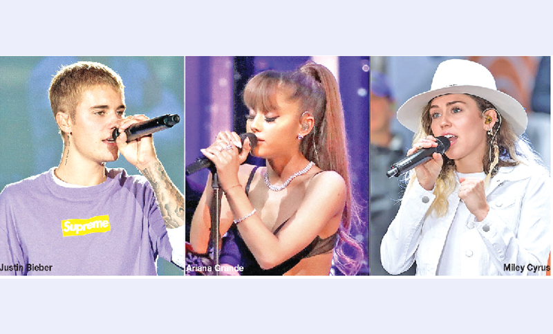 Justin, Ariana, Miley join  hands for music video