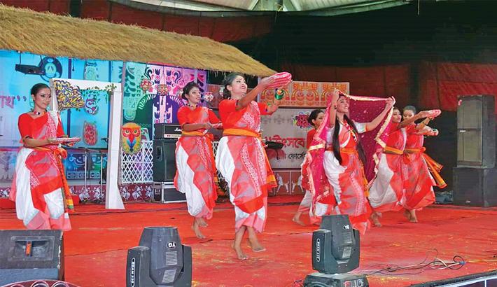 Artistes perform at a cultural programme