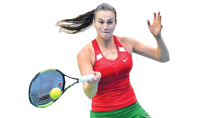 Sabalenka grinds past Stosur in Fed Cup semi