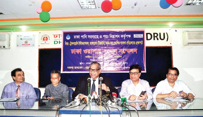 Dhaka WASA water 100pc drinkable