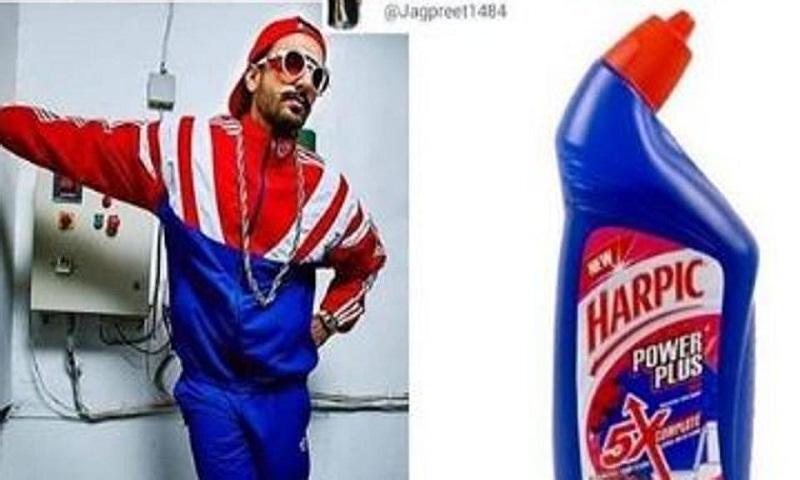 Ranveer Singh channels the toilet cleaner style, trolls himself with hilarious meme