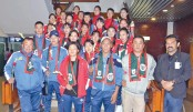 Bangamata Gold Cup participating teams arrive  in city