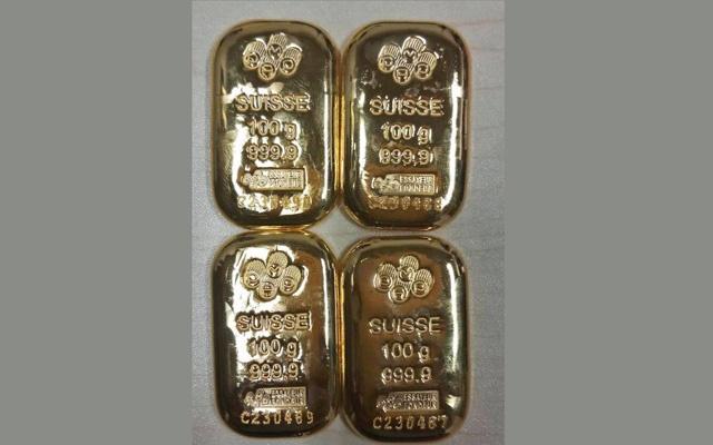 4 gold bars recovered at Dhaka Airport