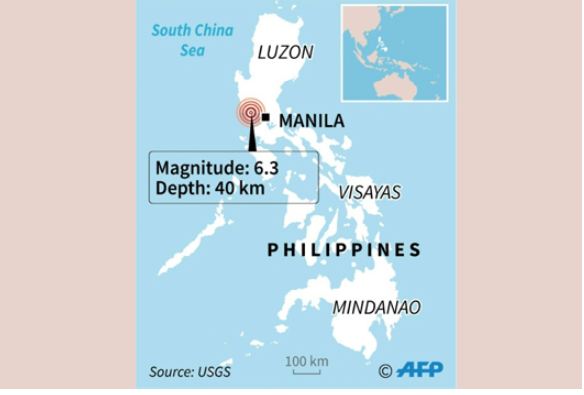 Strong quake sends Philippine workers fleeing buildings