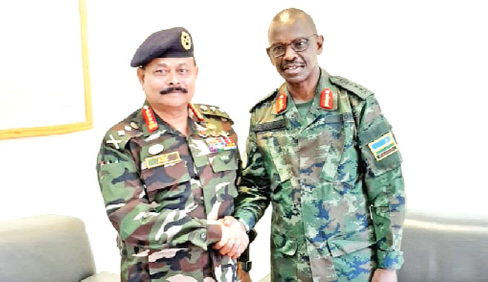 Army chief calls on force commander of UNMISS