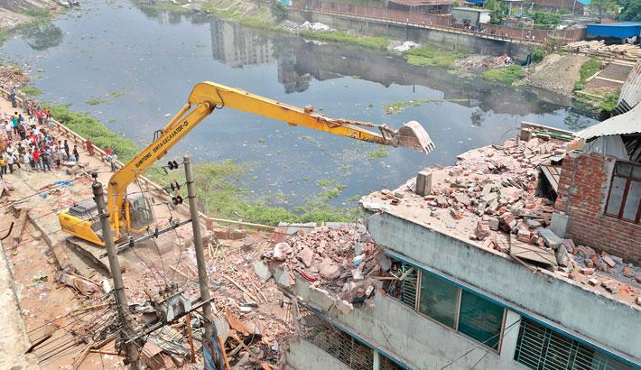 55 structures demolished on Turag banks