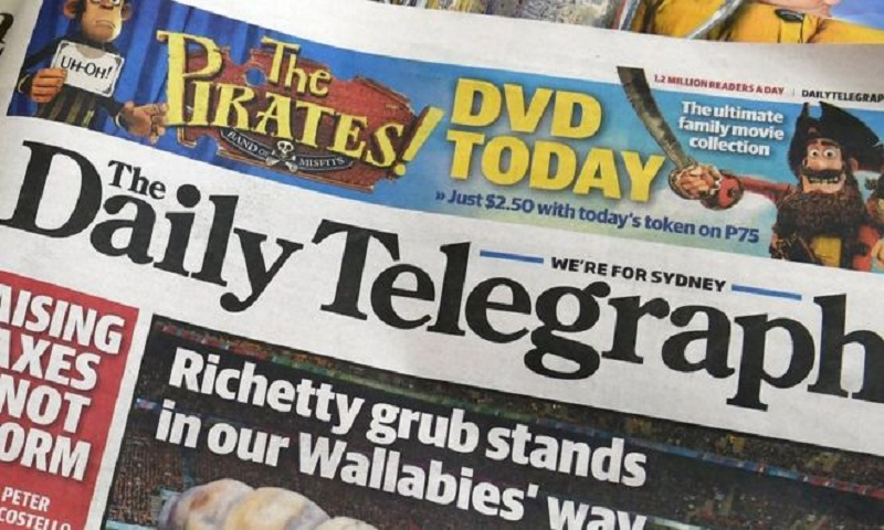 Australia's Daily Telegraph prints rival's pages by mistake
