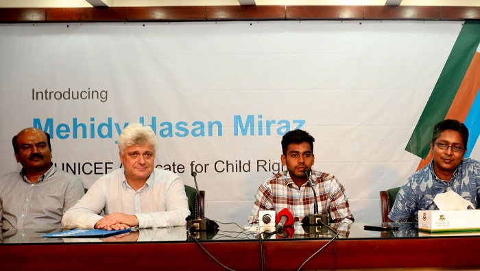 National cricketer Miraz named UNICEF child rights advocate