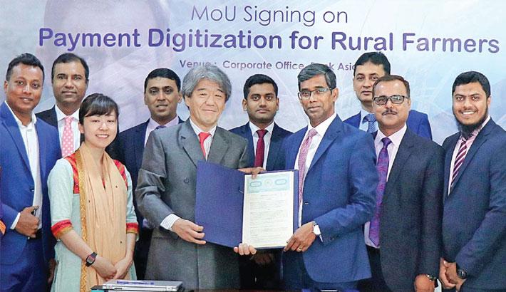 Bank Asia, Grameen Euglena sign deal