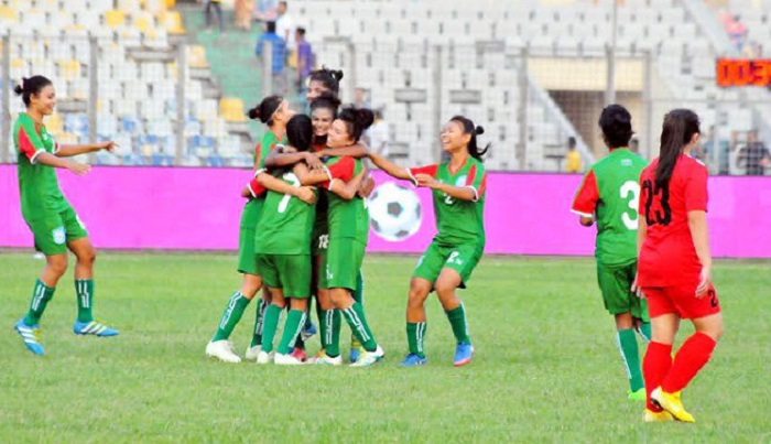 Bangladesh women emerge group champions beating Kyrgyzstan 2-1