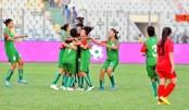Bangladesh women emerge group champions beating Kyrgyzstan 2-1