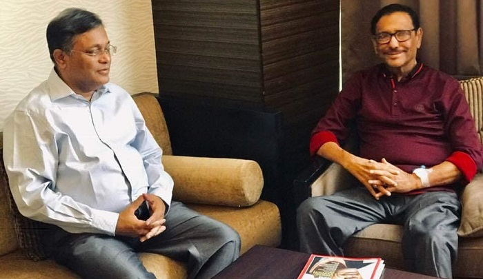AL leader Obaidul Quader doing well in Singapore