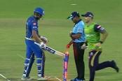 Sharma fined for hitting stumps after IPL dismissal